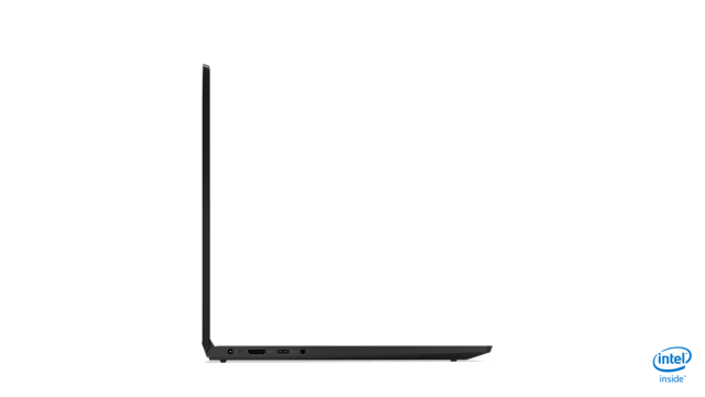 ideapad c340 product photography 14inch onyx black tour left side